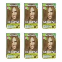 Garnier Nutrisse Nourishing Color Creme  70 Dark Natural Blonde  Pack of 6 Hair Color 1 Appli