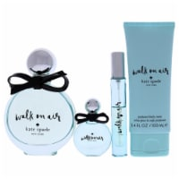 Walk On Air by Kate Spade for Women-4 Pc Gift Set-EDP Sprays, Mini Splash, Body Cream