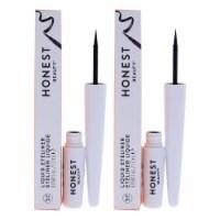Honest Liquid Eyeliner  Black  Pack of 2 1.7 ml - 1.7 ml