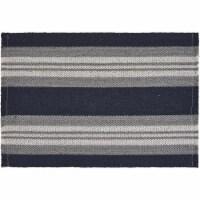 LR Resources SPECI04706IGF1117 Striped Casual Coastal Place Mat, Navy & Gray