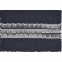 LR Resources SPECI04708IWS1117 Bold Striped Place Mat, Navy & White