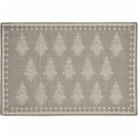 LR Resources SPECI04710GRF1117 Fairytale Motif Bordered Place Mat, Gray & Cream