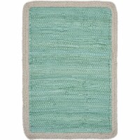 LR Resources TABLE18018TUR1117 Bordered Place Mat, Turquoise