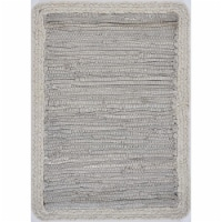 LR Resources TABLE18019MCH1117 Bordered Place Mat, Light Gray