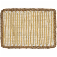 LR Resources SPECI04602SNP1117 Striped Sunny Day Bordered Place Mat, White & Yellow - 1