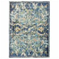 LR Home GALAC81273NAM89B9 Gala Jacobean Gentility Indoor Area Rug, Navy - 8 9 x 11 ft. 9 in. - 1