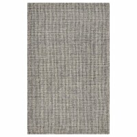 LR Home CRISS81297GRY5079 Criss Cross Slate Basketweave Indoor Area Rug, Gray - 5 ft. x 7 ft.