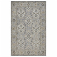 LR Home MODTR81285IBE5079 Modern Traditions Indoor Area Rug, Ice Blue - 5 ft. x 7 ft. 9 in. - 1