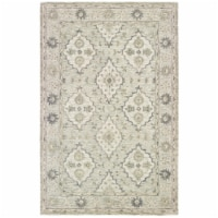 LR Home MODTR81286SEW5079 Modern Traditions Indoor Area Rug, Sea Weed Green - 5 ft. x 7 ft. 9