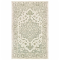 LR Home MODTR81289SGG5079 Modern Traditions Indoor Area Rug, Sea Green & Gray - 5 ft. x 7 ft.