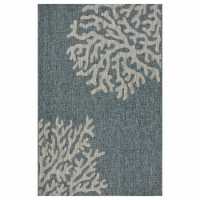 LR Home CAPTI81022BGR7995 7 9 x 9 ft. 5 in. Captiva Andros Reef Indoor & Outdoor Area Rug, Bl