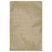 LR Home CAPTI81024BEP5070 5 x 7 ft. Captiva Verdant Palms Indoor & Outdoor Area Rug, Beige & - 1
