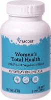 Vitacost Women's Total Health with Fruit & Vegetable Blend Everyday Essentials Tablets