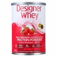 Designer Whey - Protein Powder - Natural Whey - Luscious Strawberry - 12 oz - Case of 1 - 12 OZ each