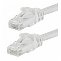 Monoprice Patch Cord,Cat 6,Flexboot,White,5.0 ft.  9832 - 1