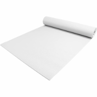 Yoga Accessories Deluxe 0.25 Inch Extra Thick Non Slip Pilates Mat, White - 1 Piece