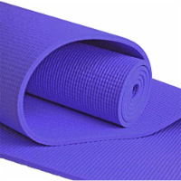 Yoga Accessories Deluxe 0.25 Inch Thick Extra Long Non Slip Pilates Mat, Purple - 1 Piece