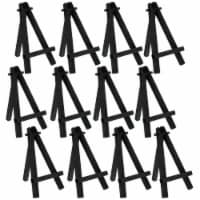 """5  Mini Black Wood Display Easel (12 Pack), A-Frame Artist Painting Party Tripod Easel - 5"""" - 12 Pack"""
