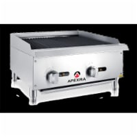 Apexra APRB-24NG 24 in. Radiant Charbroiler, 70000K BTU NG