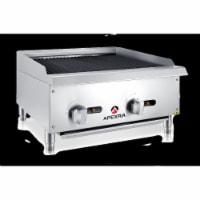 Apexra APCB-24LP 24 in. Char-Rock Charbroiler, 70000K BTU LP