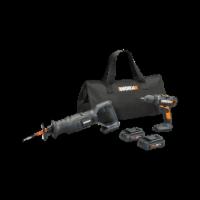 Worx WX946L 2pc Combo Kit w/ 20V Drill & Recip saw - EA