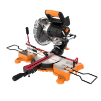 """Worx WX845L 20v WorxSaw 7-1/4"""" sliding compound miter saw with Work-Holding clamp feature - - EA"""