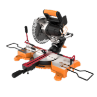 """Worx WX845L.9  20v POWERSHARE 7-1/4"""" sliding miter saw with Work-Holding clamp Tool Only - EA"""