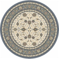 Dynamic Rugs ANR5571206454 5 x 3 ft. Ancient Garden 57120 Round Traditional Rug - 6454 Beige