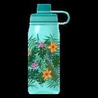 Cool Gear Print System Chug Tropical Leaves Thermal Beverageware - Aqua
