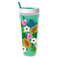 Cool Gear Printed Callisto Chiller Tropical Fruit Thermal Beverageware