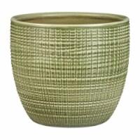 Scheurich 7803356 5.5 in. x 6.25 in. Dia. Antique Green Ceramic Vase Flower Pot, Pack of 4