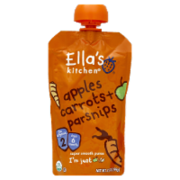 Ella's Kitchen Carrots Apples & Parsnips Stage 1 Baby Food Pouch