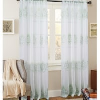 Olivia Gray PNB21282 54 x 84 in. Bergen Floral Embroidered Single Rod Pocket Curtain Panel, S - 1