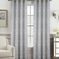 Olivia Gray PNT25282 54 x 84 in. Tropez Two Tone Jacquard Single Grommet Curtain Panel - Sage - 1