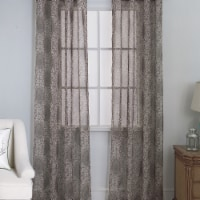 Olivia Gray PNM28423 54 x 84 in. Marianna Damask Printed Doily Single Grommet Curtain Panel - - 1
