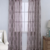 Olivia Gray PNM28479 54 x 84 in. Marianna Damask Printed Doily Single Grommet Curtain Panel - - 1