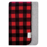 Trend Lab Flannel and Faux Shearlng Baby Blanket - Red and Black Buffalo Check