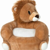 Trend-Lab 102654 21 x 19 x 19 in. Childrens Polyester Plush Lion Character Chair, Tan & White