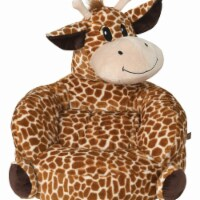 Trend-Lab 102667 21 x 19 x 19 in. Childrens Polyester Plush Giraffe Character Chair, Brown &