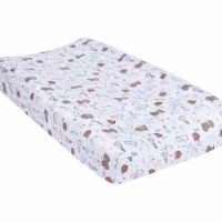 Trend-Lab 103358 18 x 32 in. Fishing Bears Quilted Jersey Changing Pad Cover, Multi Color