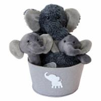 Trend Lab Elephant Plush Gift Set Bucket - 4 pc