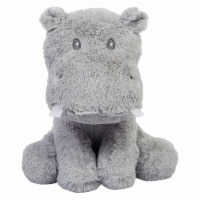 Trend-Lab 50002 9 in. Hippo Plush Toy with Rattle Tooth & Brush Crinkle Paper, Orange, White