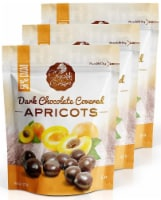 Chocolate Orchard Dark Chocolate Covered Apricots - 6 oz. Bags (Pack of 3)