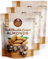 Chocolate Orchard Dark Chocolate Covered Almonds - 6 oz. Bags (Pack of 3)