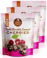 Chocolate Orchard Dark Chocolate Covered Cherries - 5 oz. Bags (Pack of 3)