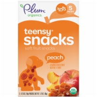 Plum Organics Teensy Fruits Peach Flavor Soft Fruit Snacks 5 Count