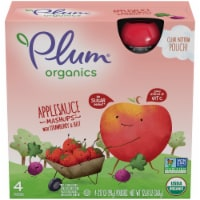 Plum Organics Mashups Strawberry and Beet Applesauce 4 Count