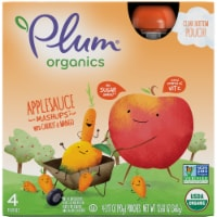 Plum Organics Applesauce Mashups with Carrot & Mango 4 Count