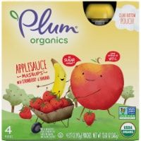 Plum Organics Mashups Strawberry & Banana Applesauce