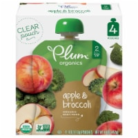 Plum Organics Apple & Broccoli Stage 2 Baby Food 4 Count